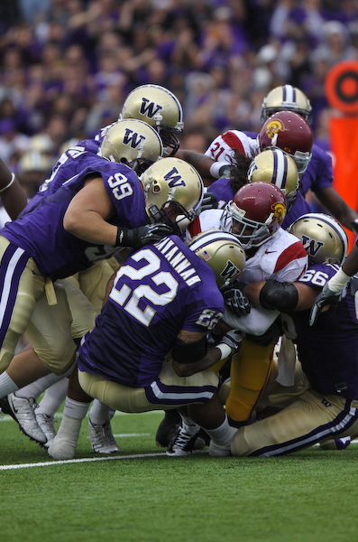 The Huskies Defense came up huge today against a usually potent USC offense.