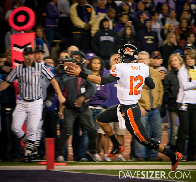 Beavers QB Ryan Katz in for the touchdown