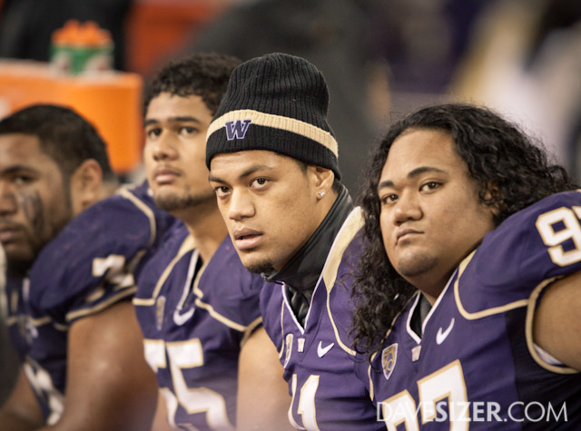 No smiles to be found on the Huskies bench