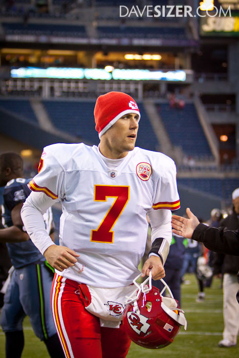 Matt Cassel trots off the field after a 42-24 victory.