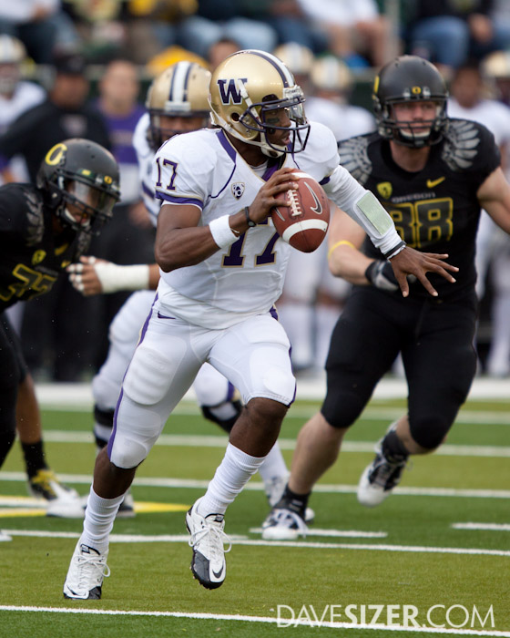 Redshirt Freshman Keith Price did a good job in his first start as the Husky QB against the best team in the land.
