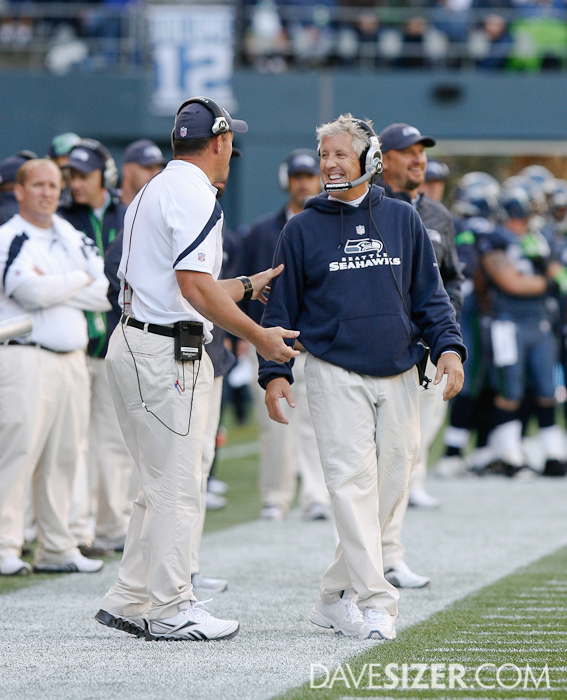 Pete Carroll likes what he sees