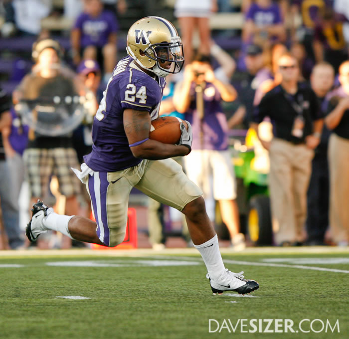 Washington RB Jessie Callier heads down field on a kickoff return
