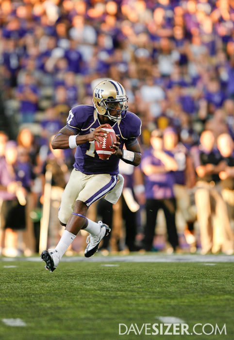 Washington QB Keith Price on the run.