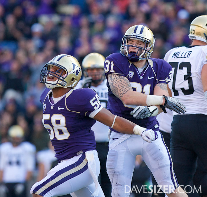 Jammal Kearse and Cort Dennison let out a roar after a stop.