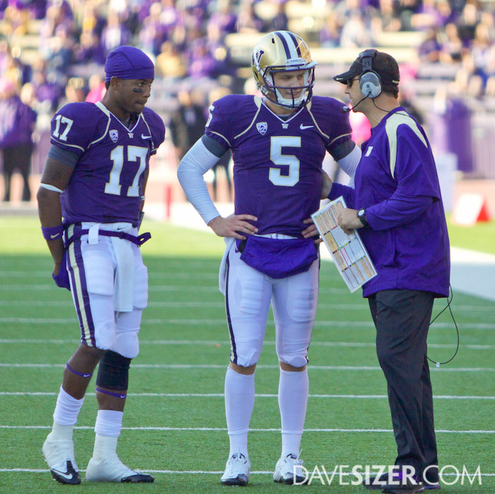Coach with his two QBs.