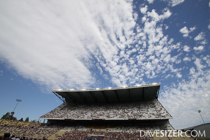 Another angle of the north stands with some great clouds.