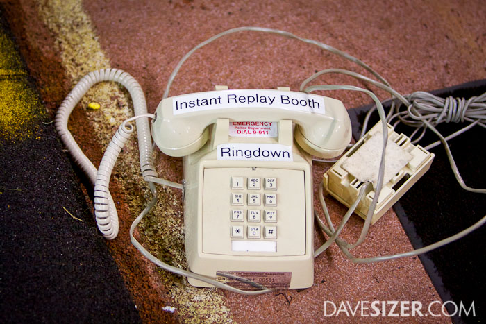 The phone the the refs use to talk to the booth for instant replay reviews.