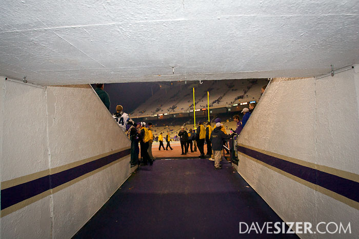 This is where they gather before they run onto the field.