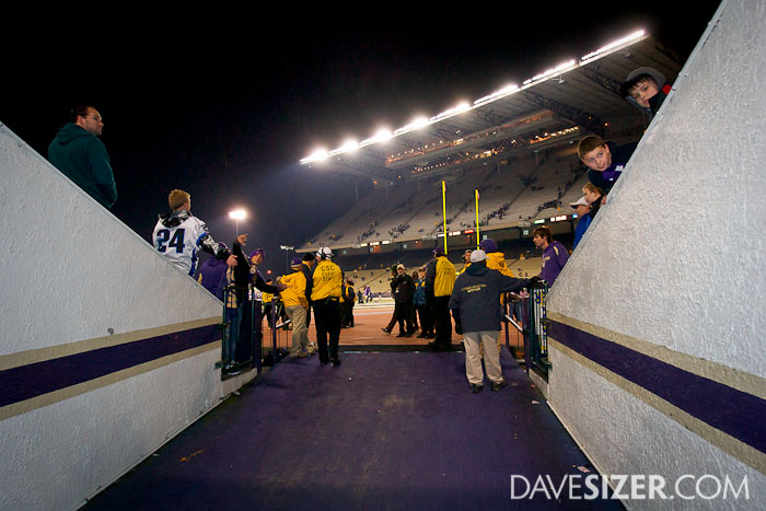 Heading out of the tunnel to the field.