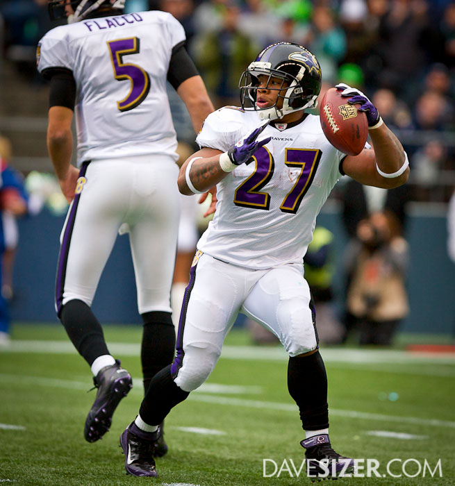 Ray Rice surprises everyone with this touchdown pass.