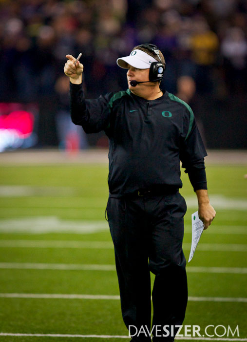 Coach Chip Kelly takes the penalty yardage.