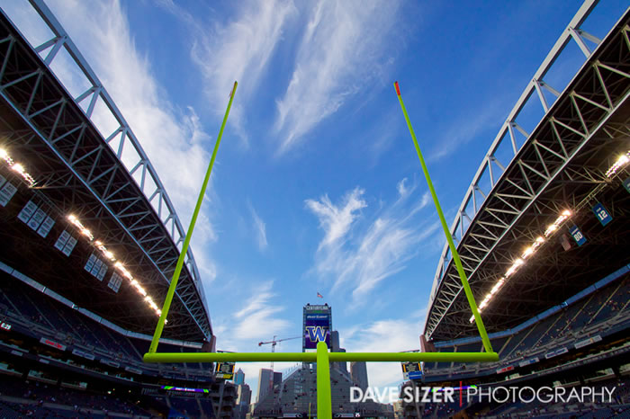 A beautiful evening in the Huskies temporary home CenturyLink Field