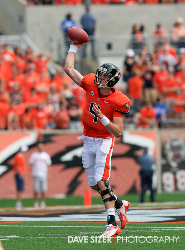 Sean Mannion unloads a pass. He finished the day with 276 yards and a TD.