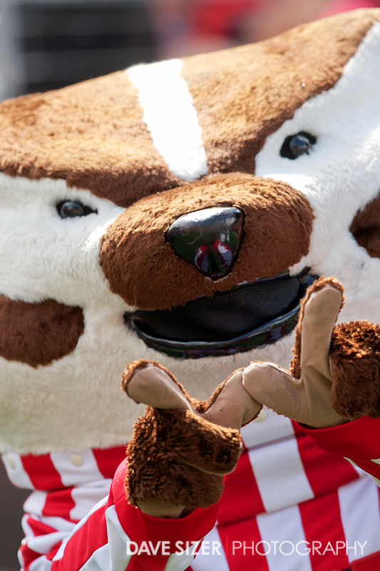 "Bucky flashes a ""W"" (I hope that doesn't stand for Win)"