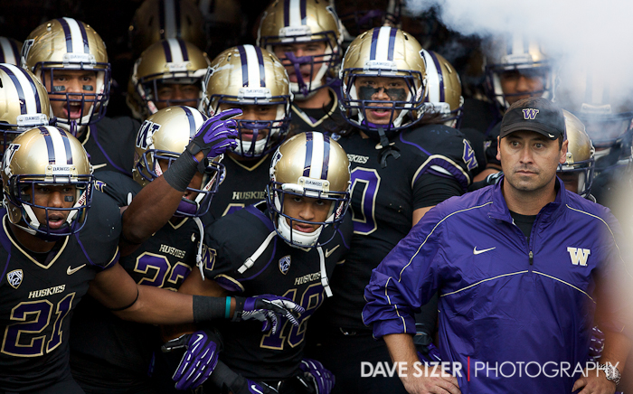 Coach Sark and his team get ready to take the field
