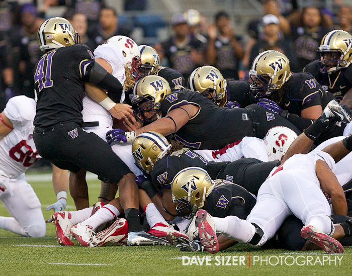 The Huskies Defense set the tone for the game swarming the Cardinal on the ball.