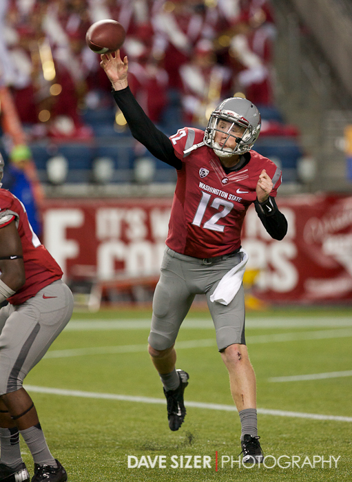 Cougar QB Connor Halliday makes a throw.