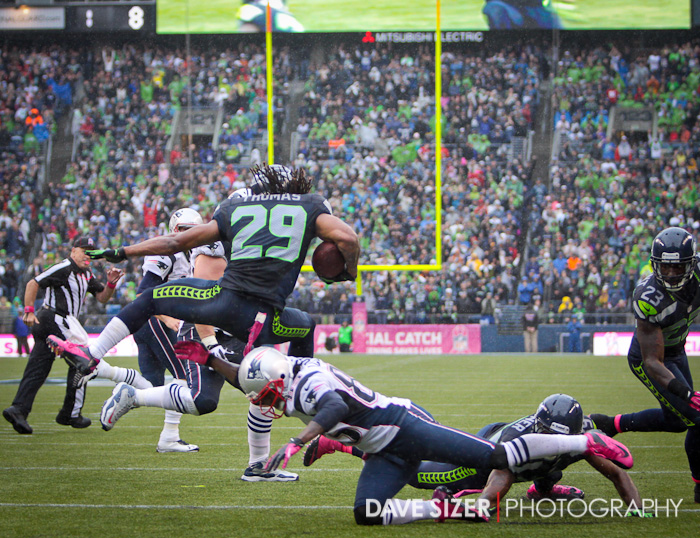 Free Safety Earl Thomas eludes a talker after making this interception.