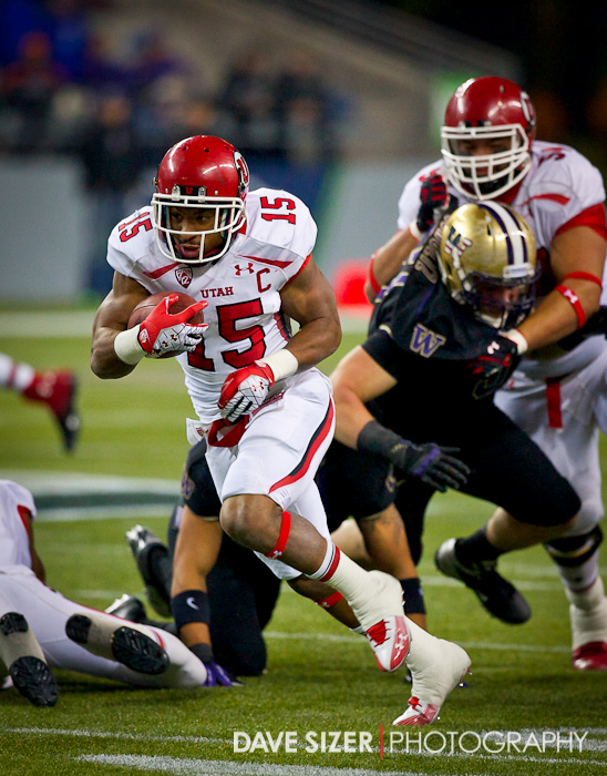 Utah's John White breaks away on a 46-yard touchdown run.