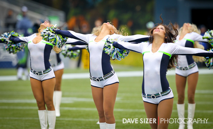 *Extra* The Sea Gals look to the sky during their performance.