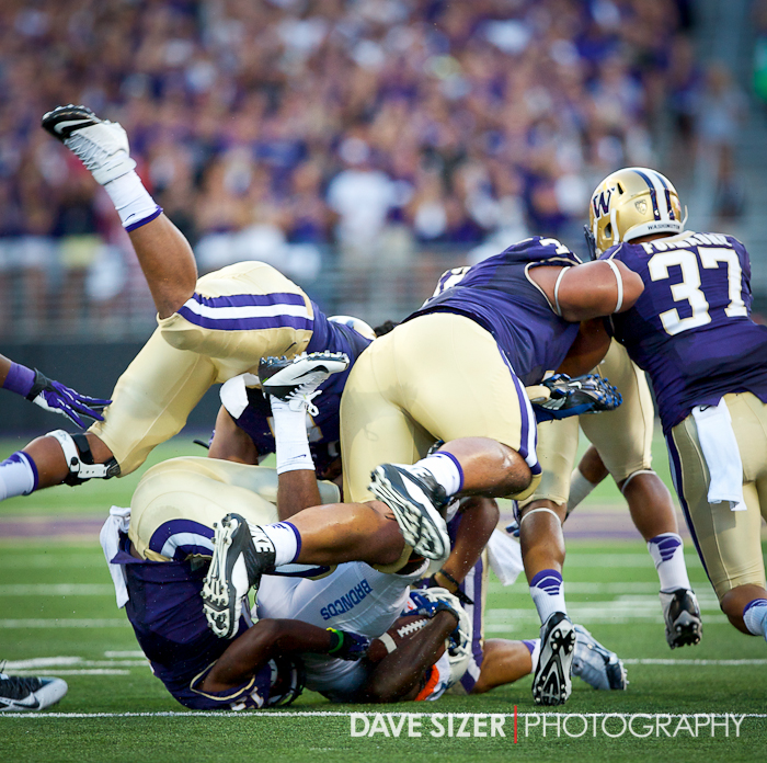 The Huskies Defense was swarming the ball all evening.