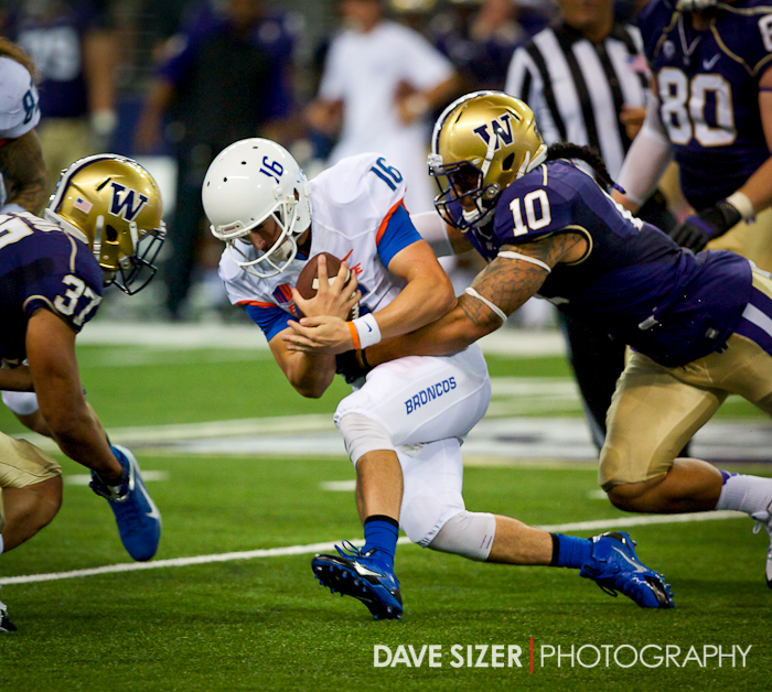 The Huskies were all over Boise QB Joe Southwick all night, eventually getting him pulled in the 4th quarter.