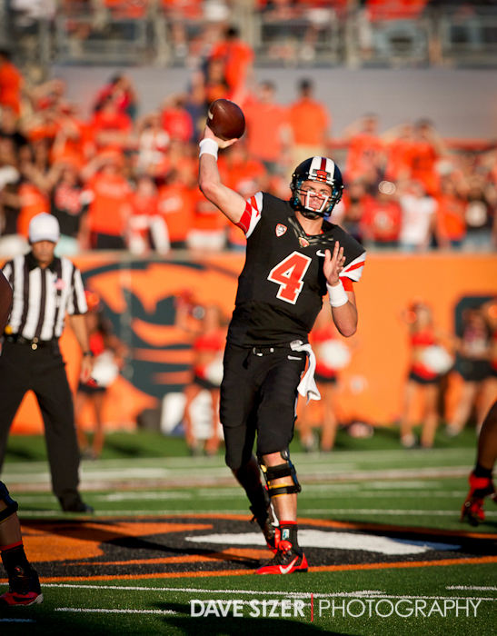 Sean Mannion unloads a pass. He ended up with 372 yards and 4 TDs.