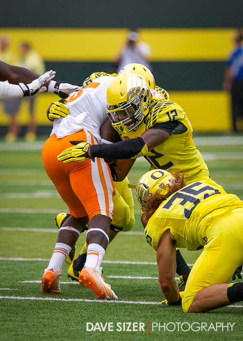 The Ducks defense was swarming all day.