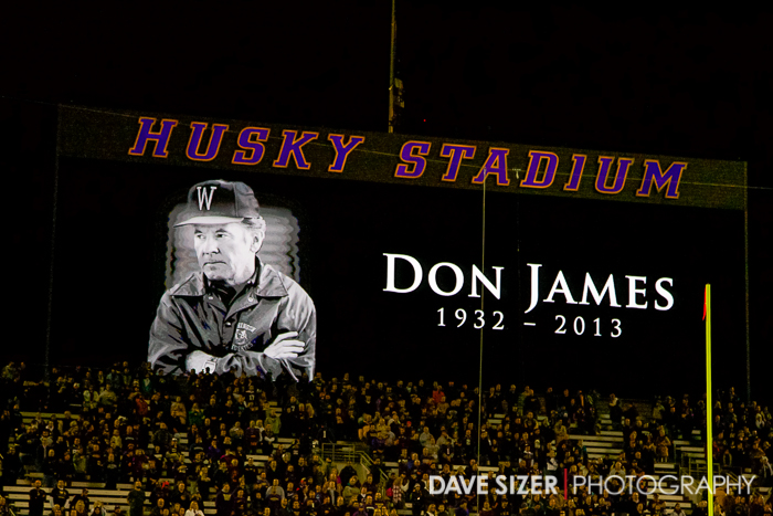 The Husky Stadium scoreboard.