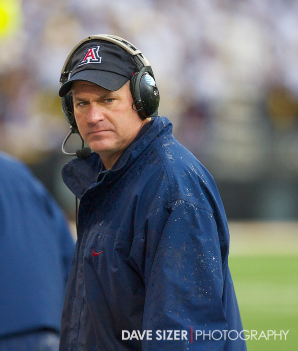 Arizona Head Coach Rich Rodriguez.