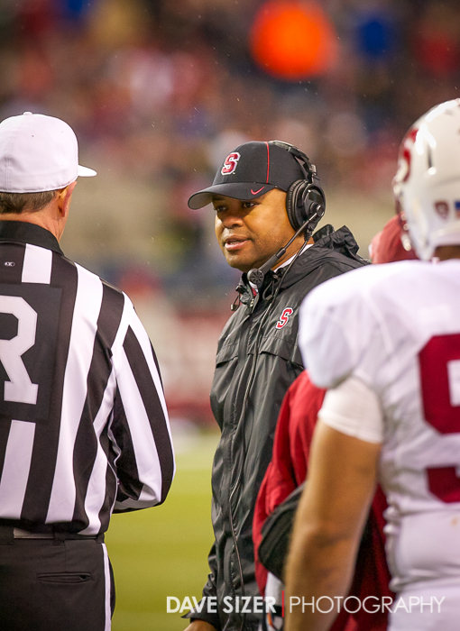 Stanford Head Coach David Shaw.