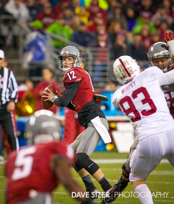 Connor Halliday eyes his target.