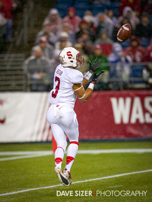 There's not a defender in sight as Cardinal WR Michael Rector hauls in this TD pass.