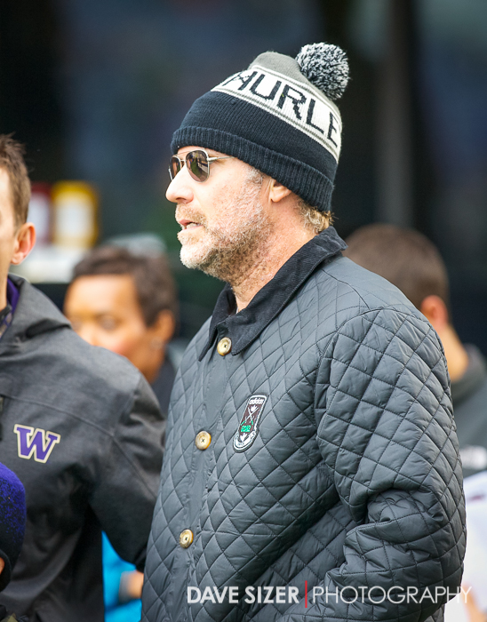 Will Ferrell takes in the action on the sidelines.