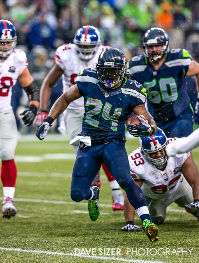 Marshawn Lynch looking for the next person to run over.