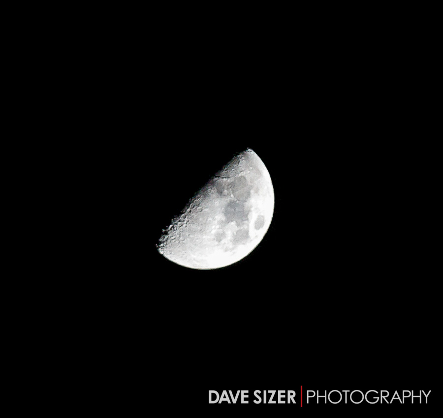 One of the perks of a freezing cold, clear night is a good view of the moon. Not bad for hand-held.