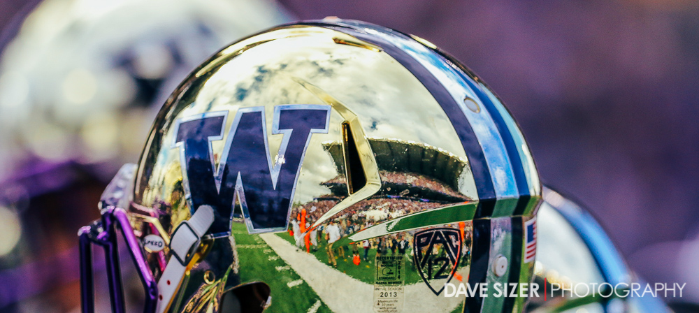 Huskies were sporting the Chrome Domes for this game.