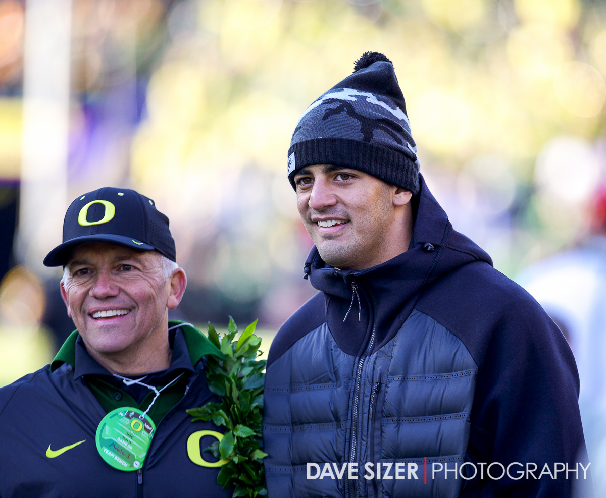 Here's a familiar face! Marcus Mariota was on hand for the game with the Titans playing on Thursday.