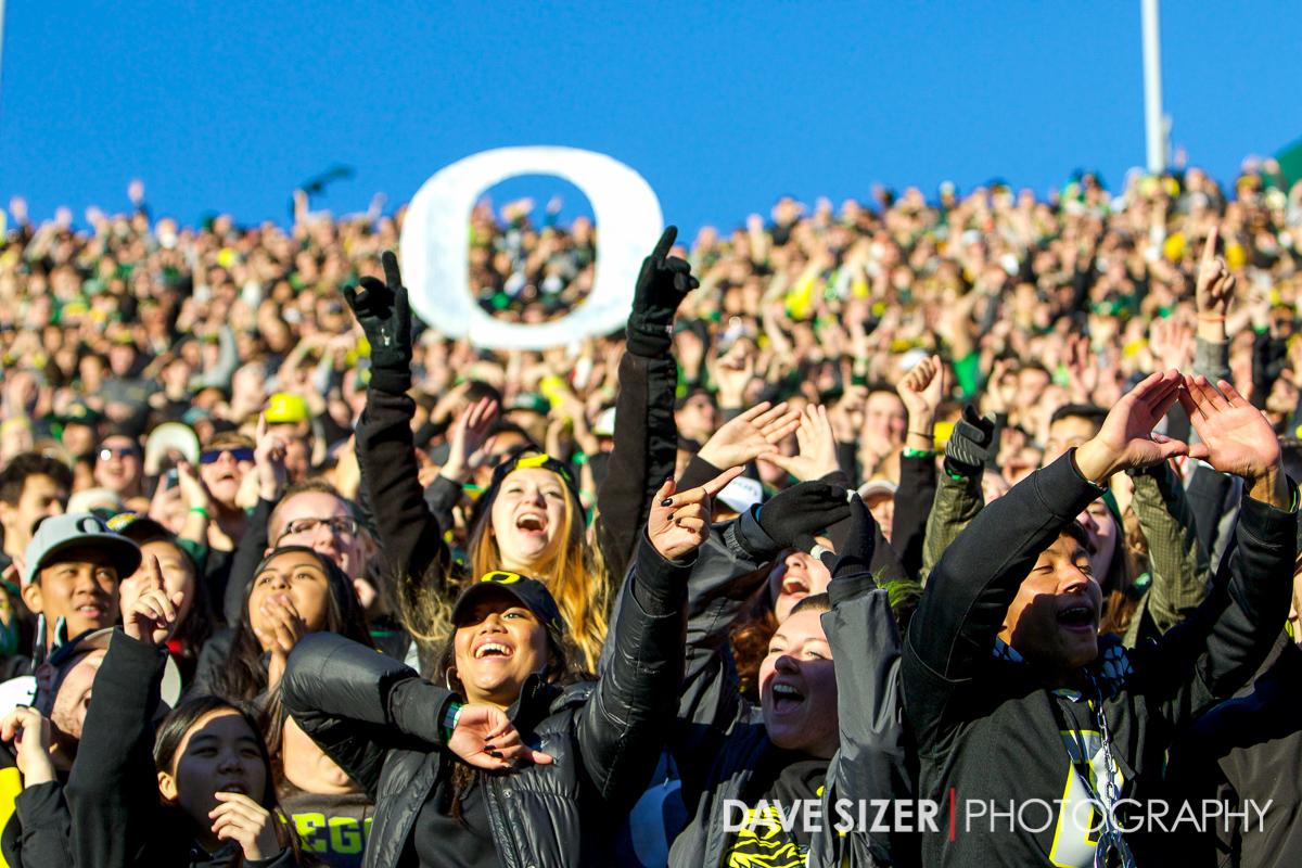 Oregon Duck fans.