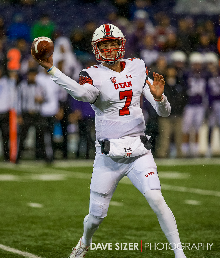 Utah QB Travis Wilson with his side-arm delivery