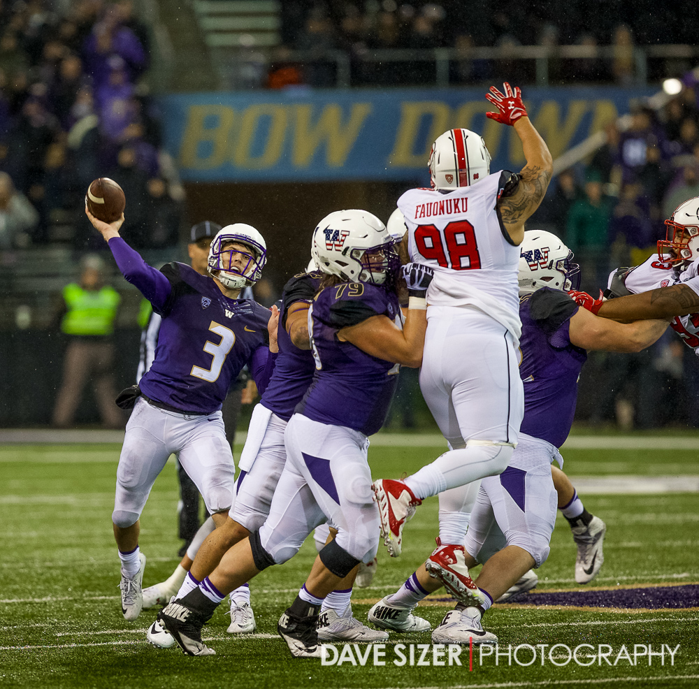 Jake Browning unloads a pass.
