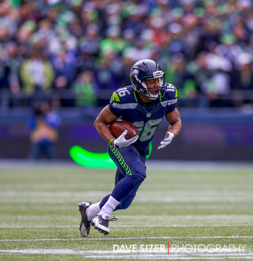 Pro Bowl selection Tyler Lockett during a kick return.
