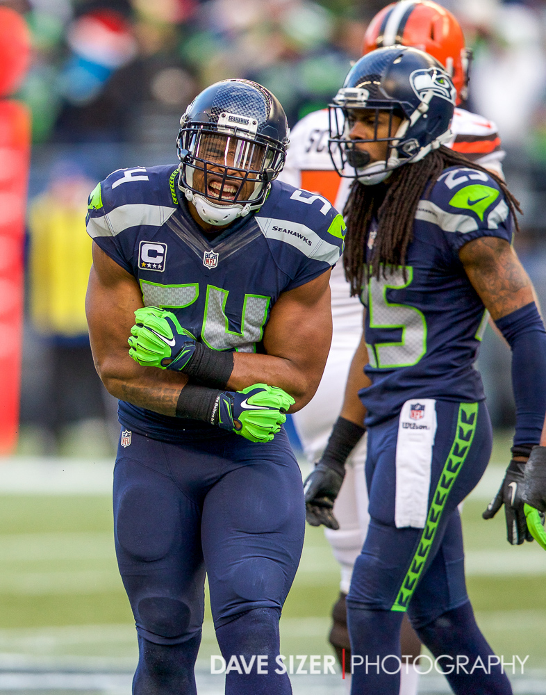Bobby Wagner lets out a roar after a stop.