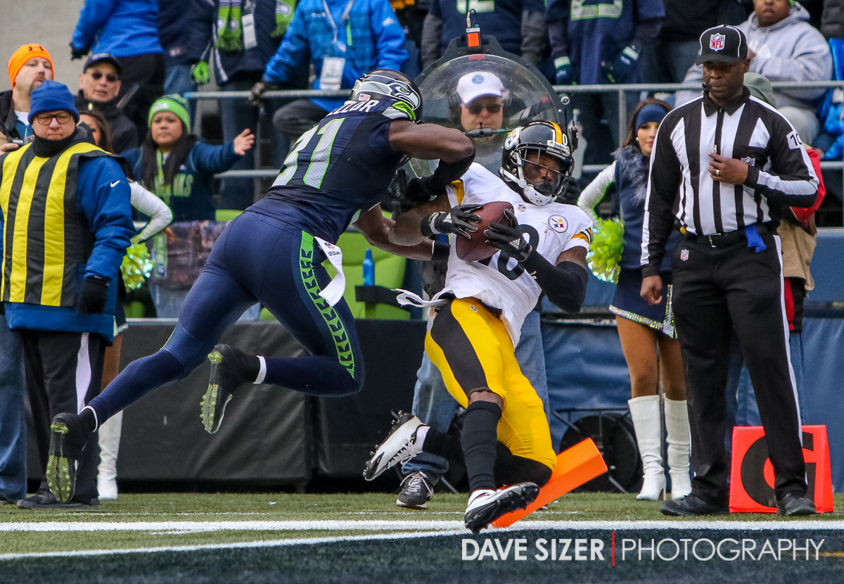Martavis Bryant gets in to then end zone but pays the price from Kam Chancellor.