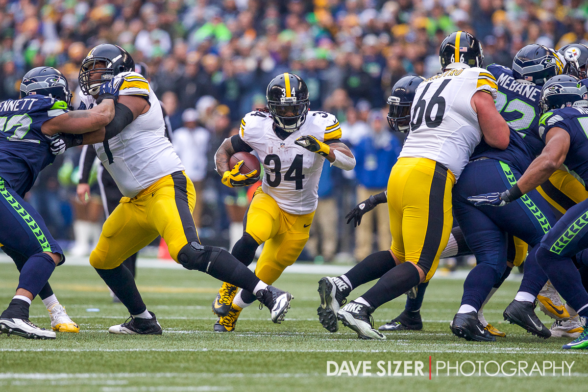 DeAngelo Williams busts up the middle.