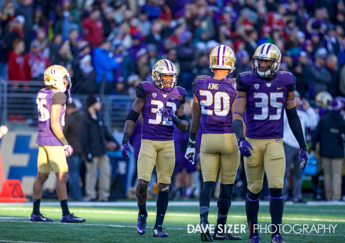 The Husky Defense in a sliver of the sun.