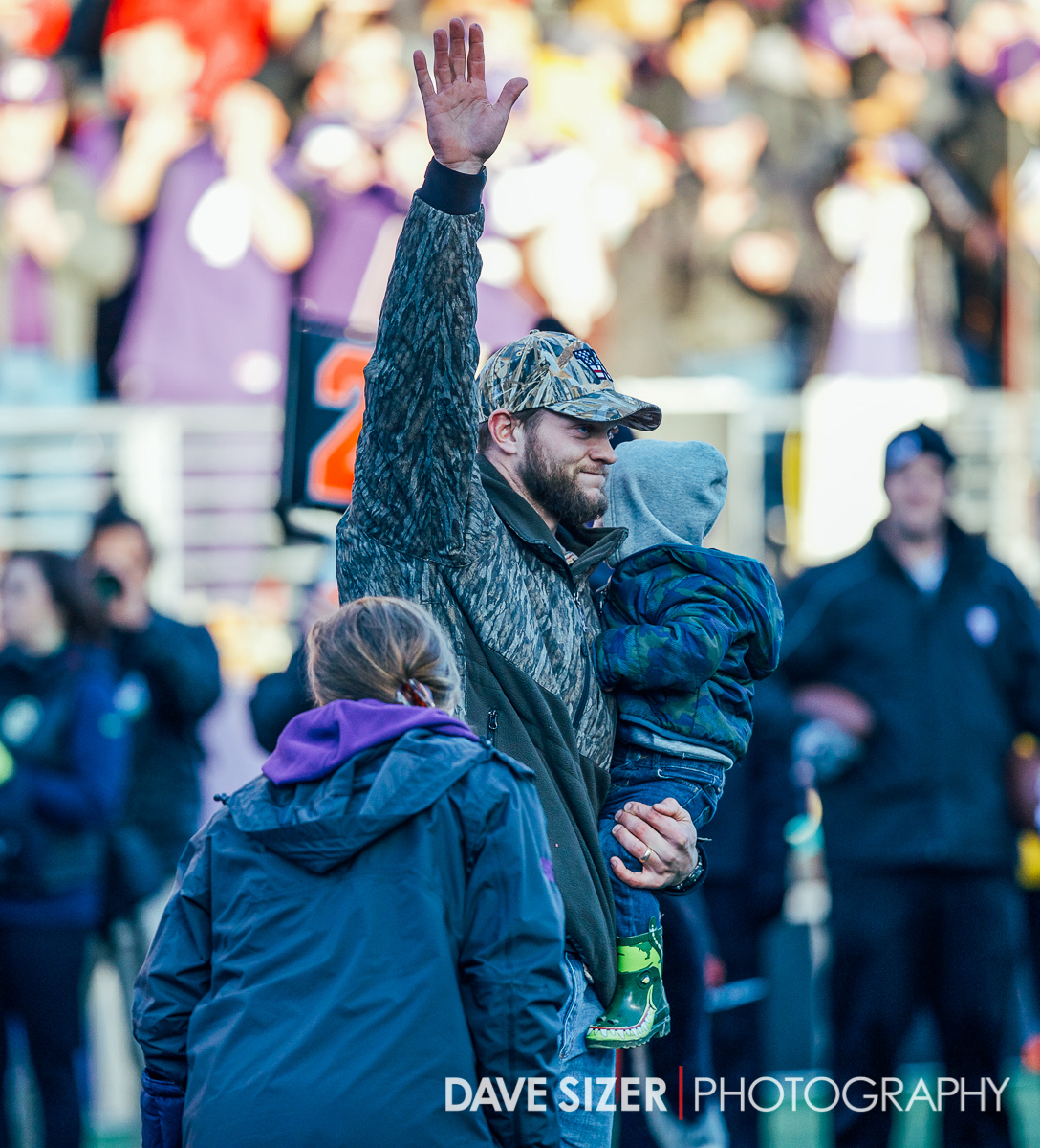 Form UW star QB Jake Locker was honored at the game.