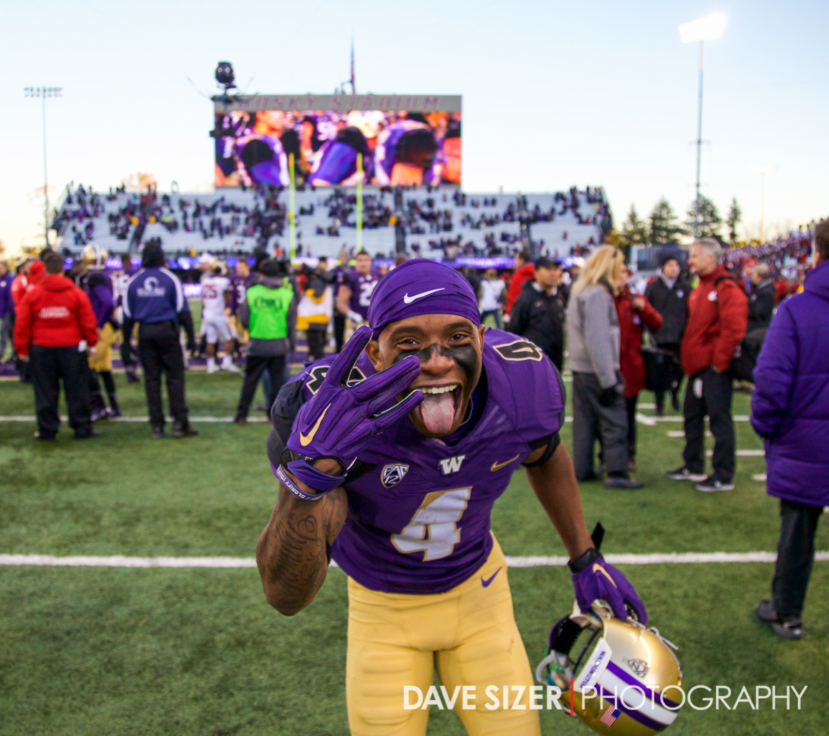 Senior Jaydon Mickens was all smiles after the victory.
