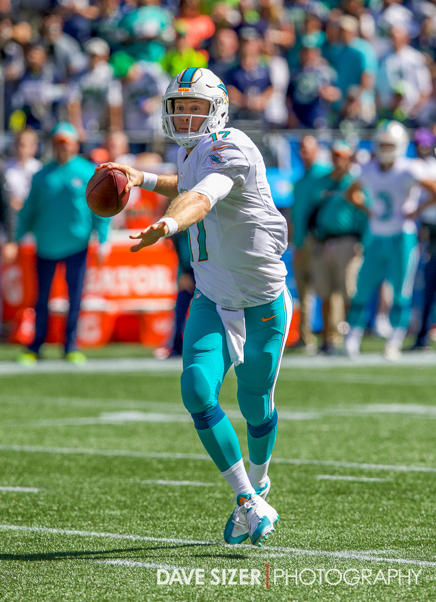 Ryan Tannehill rolls out to pass.